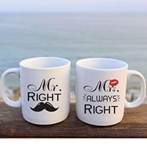 Other - Mr. Right, Mrs. Always Right Coffee Mug Set